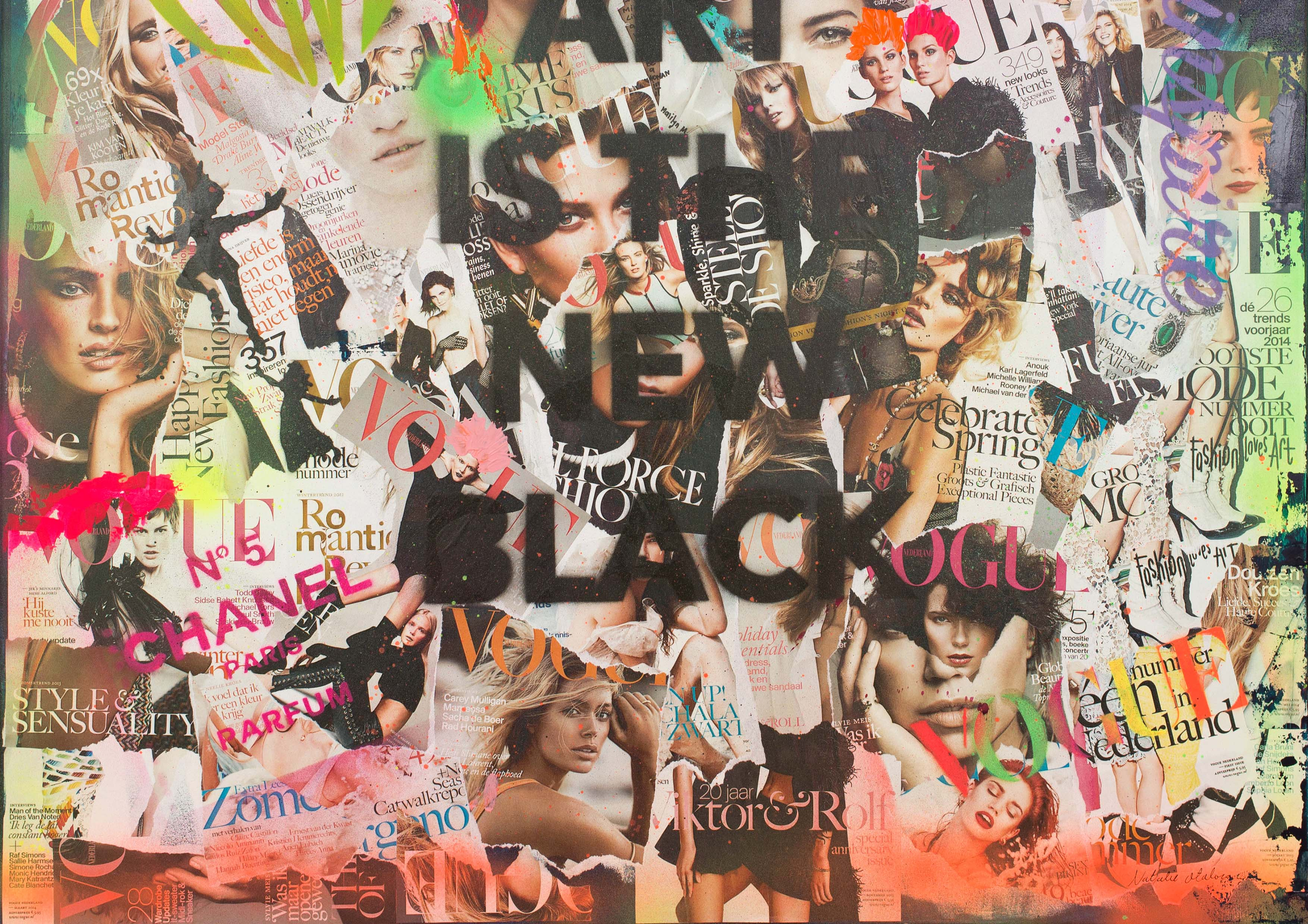 ART_MIXED-MEDIA_COLLAGE_FASHIONABLE_SOUP_CANVAS_DETAIL_1