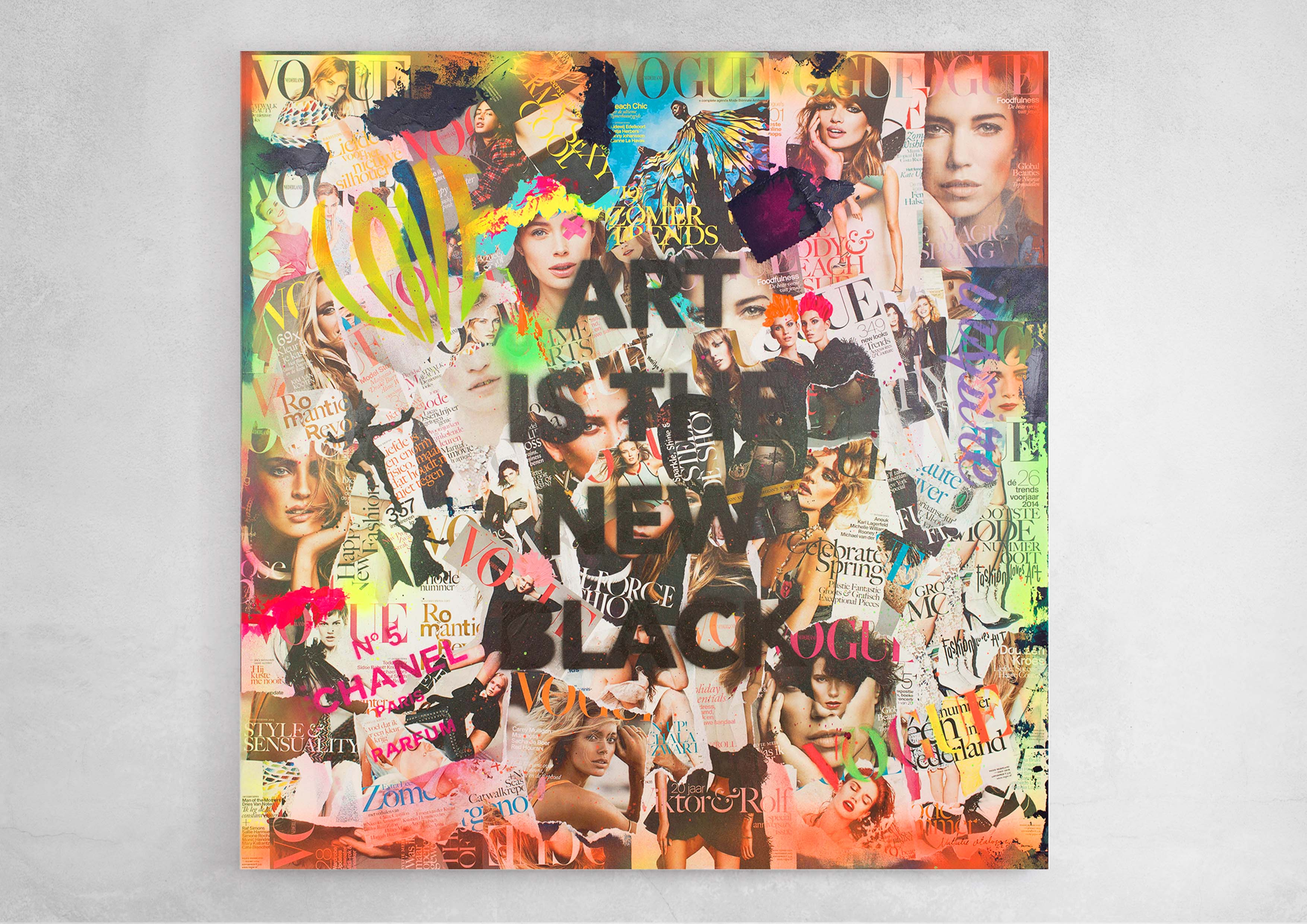 ART_MIXED-MEDIA_COLLAGE_FASHIONABLE_SOUP_CANVAS_ON_WALL