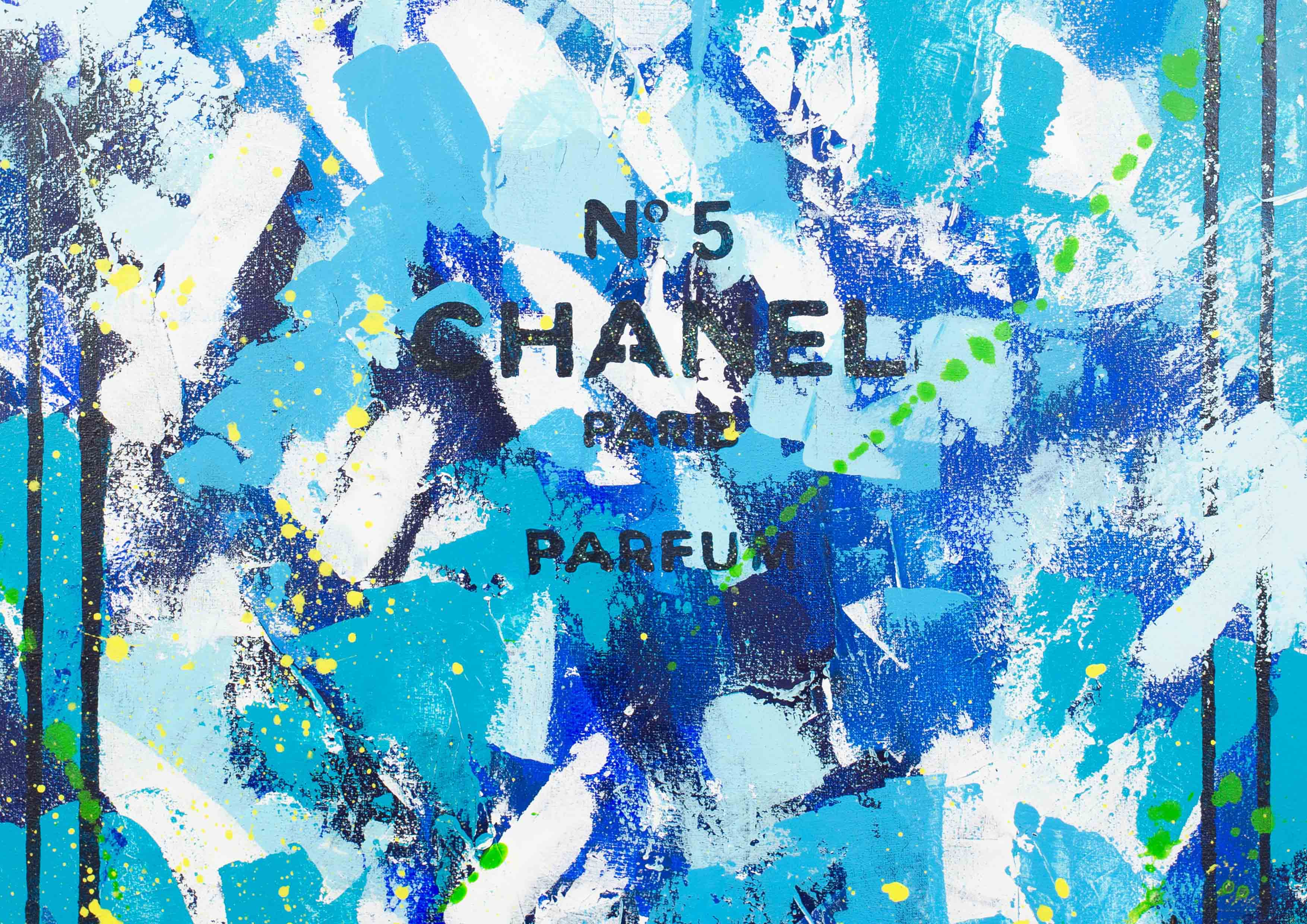 ART-PAINT-CHANEL-PERFUME-SEA-SMELL-CANVAS-DETAIL