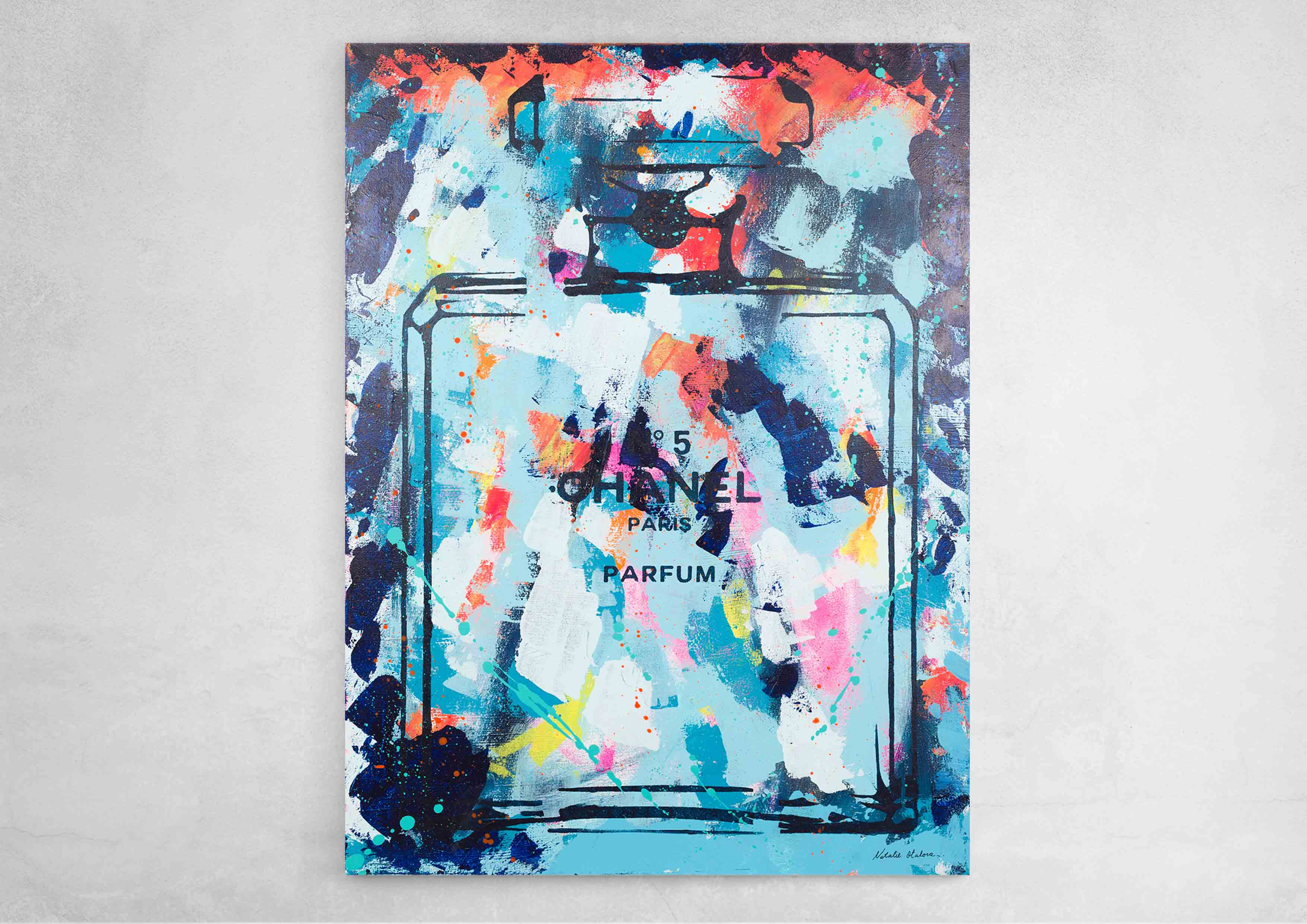 ART-PAINT-CHANEL-PERFUME-SWEET-COKTAIL-CANVAS-WALL
