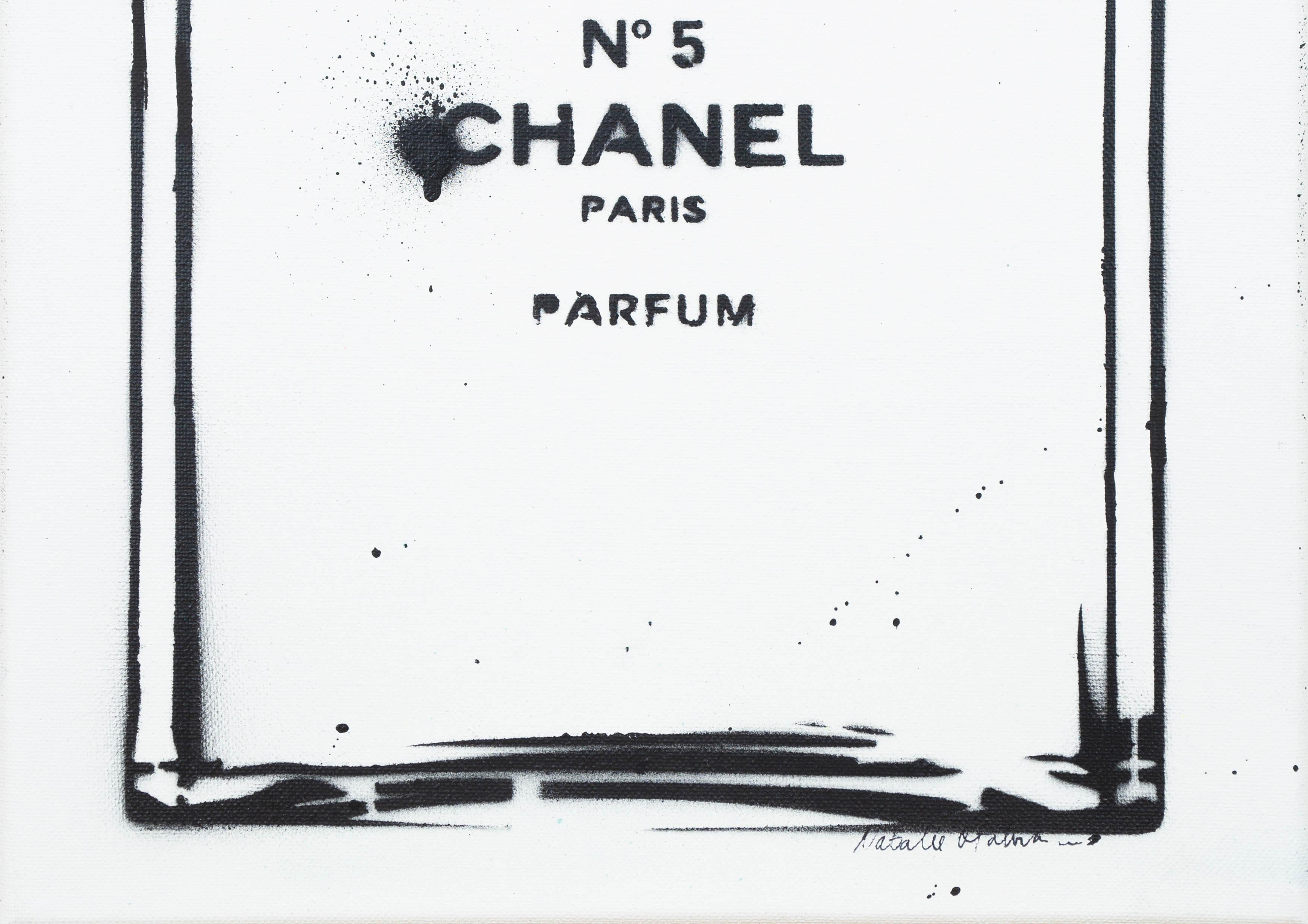ART-PAINT-CHANEL-PERFUME-JUST-BLACK-CANVAS-DETAIL
