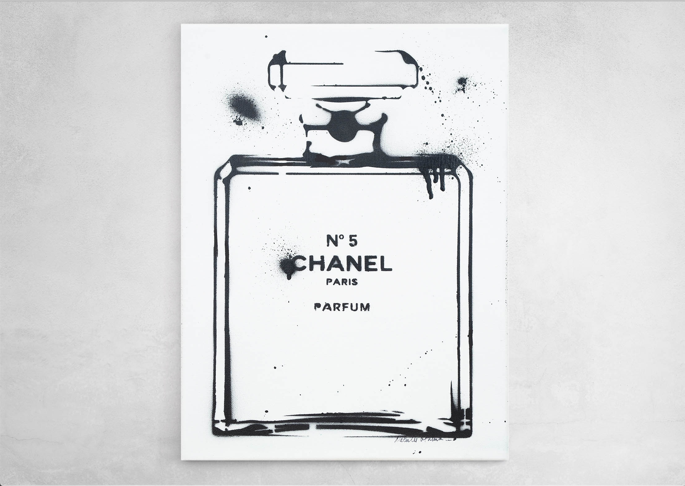 ART-PAINT-CHANEL-PERFUME-JUST-BLACK-CANVAS-ON-WALL