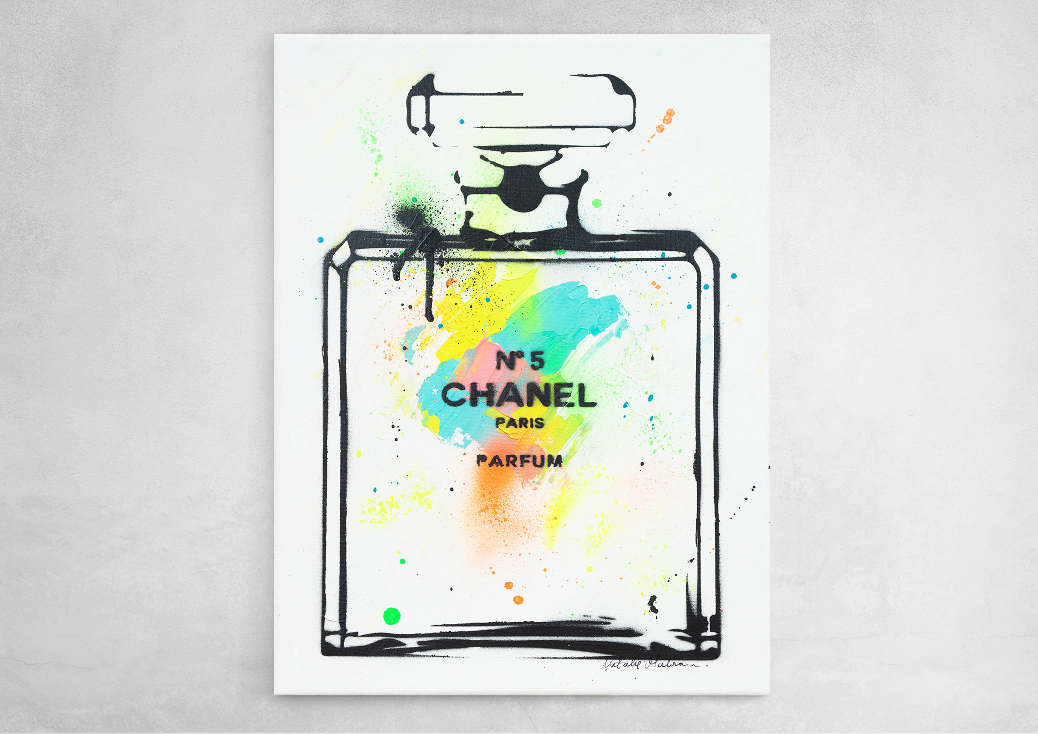 ART-PAINT-CHANEL-PERFUME-TROPICAL-CANVAS-ON-WALL