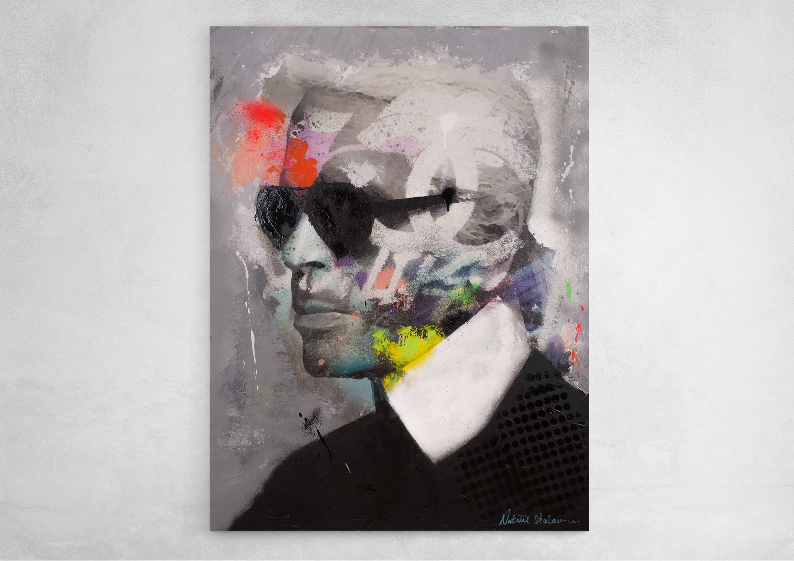 ART-PAINT-CHANEL-KARL-LAGERFELD-DANCE-WALL