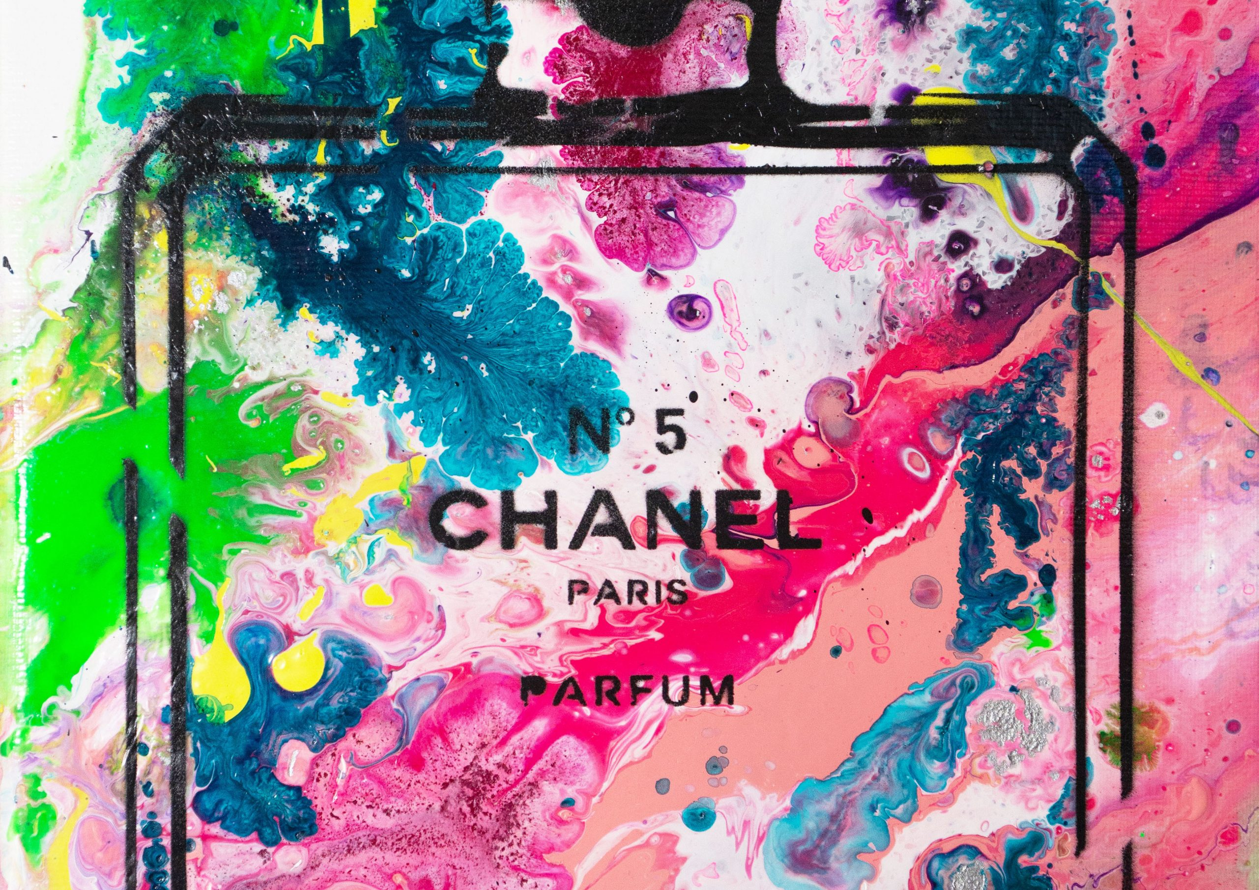 ART-PAINT-CHANEL-PERFUME-BOTANICAL-CANVAS-DETAIL