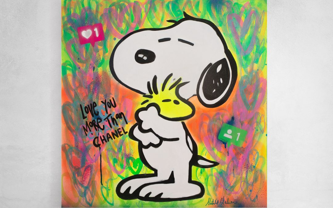 Snoopy Love you more than Chanel